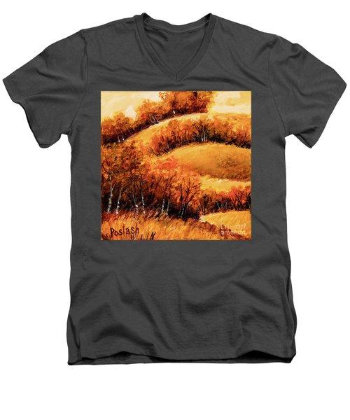 Fall Men's V-Neck T-Shirt by Igor Postash