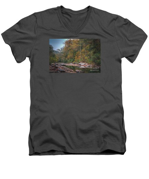 Fall In Arkansas Men's V-Neck T-Shirt