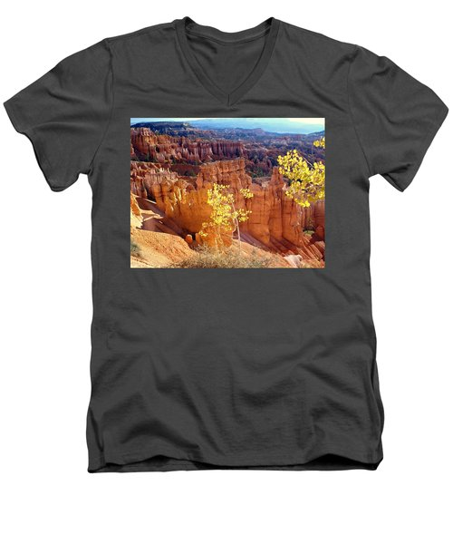 Fall In Bryce Canyon Men's V-Neck T-Shirt by Marty Koch
