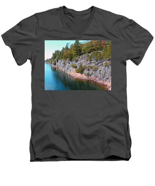 Fall In Muskoka Men's V-Neck T-Shirt
