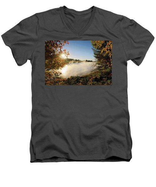 Fall In New England Men's V-Neck T-Shirt