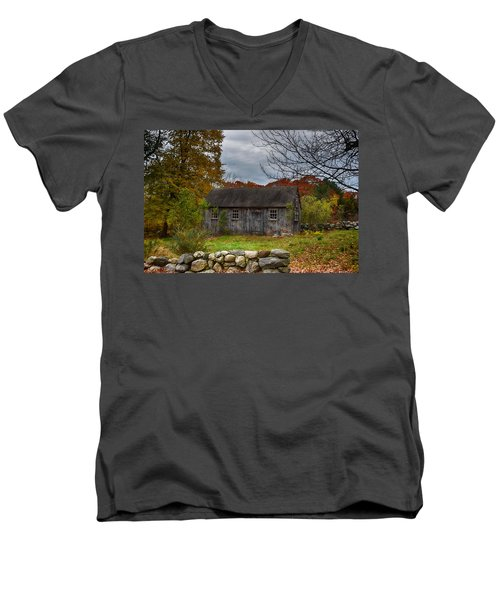 Fall In New England Men's V-Neck T-Shirt by Tricia Marchlik