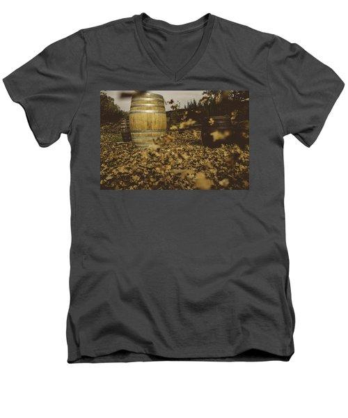 Fall In The Garden Men's V-Neck T-Shirt by Cesare Bargiggia