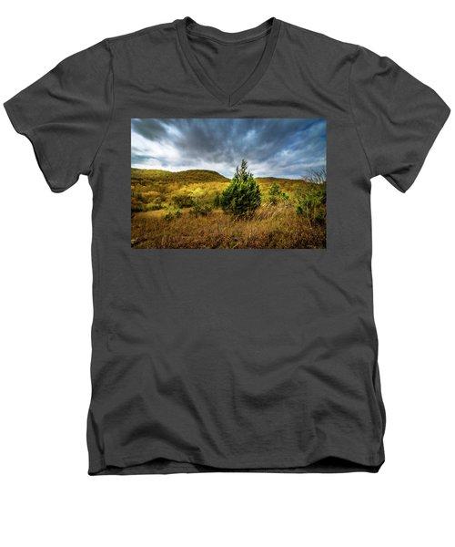 Fall In The Ozarks Men's V-Neck T-Shirt