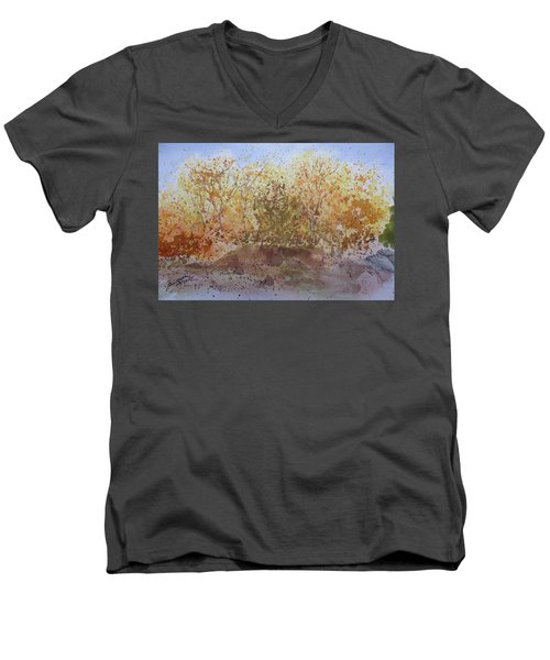 Fall In The Tejas High Country Men's V-Neck T-Shirt by Joel Deutsch