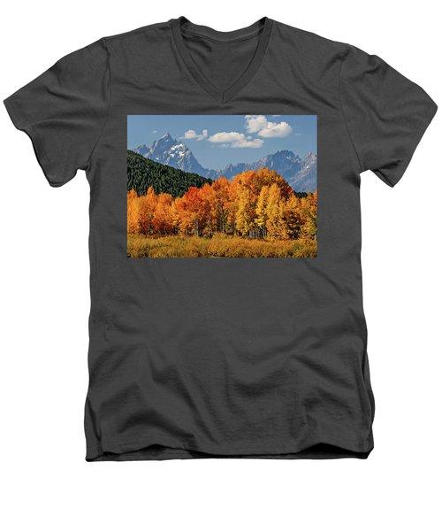 Fall In The Tetons Men's V-Neck T-Shirt