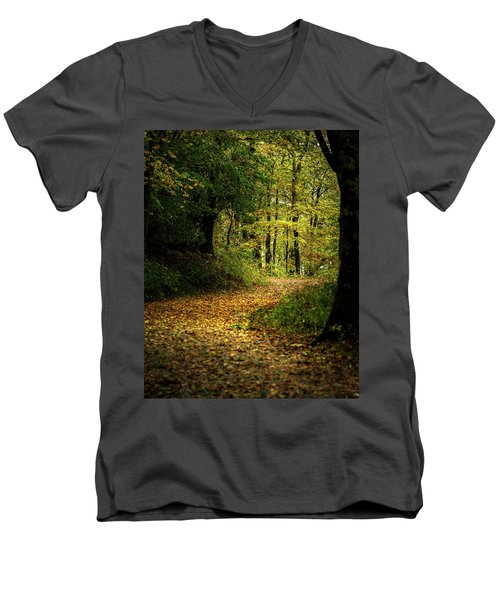 Fall Is Just Around The Corner Men's V-Neck T-Shirt