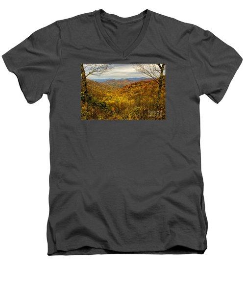 Fall Mountain Overlook Men's V-Neck T-Shirt