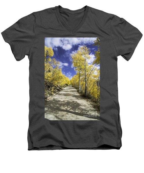 Fall On Boreas Pass Men's V-Neck T-Shirt