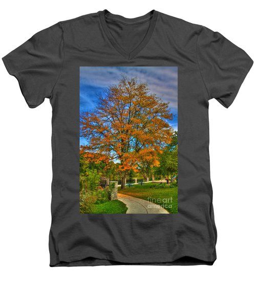 Fall On The Walk Men's V-Neck T-Shirt