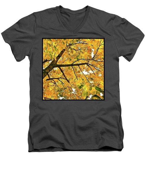Fall On William Street Men's V-Neck T-Shirt