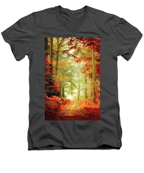 Fall Painting Men's V-Neck T-Shirt