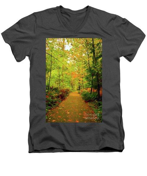Fall Path Too Men's V-Neck T-Shirt