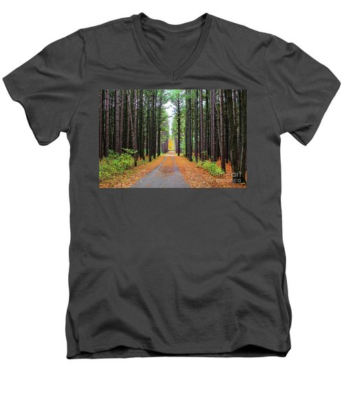 Fall Pines Road Men's V-Neck T-Shirt