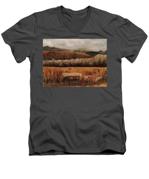 Fall Plains Men's V-Neck T-Shirt