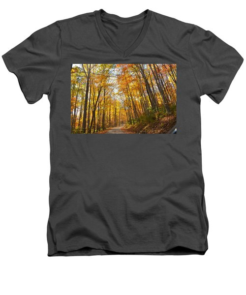 Fall Road Men's V-Neck T-Shirt