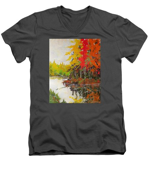 Fall Scene Men's V-Neck T-Shirt