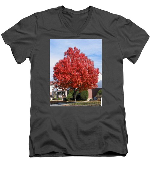 Fall Season Men's V-Neck T-Shirt