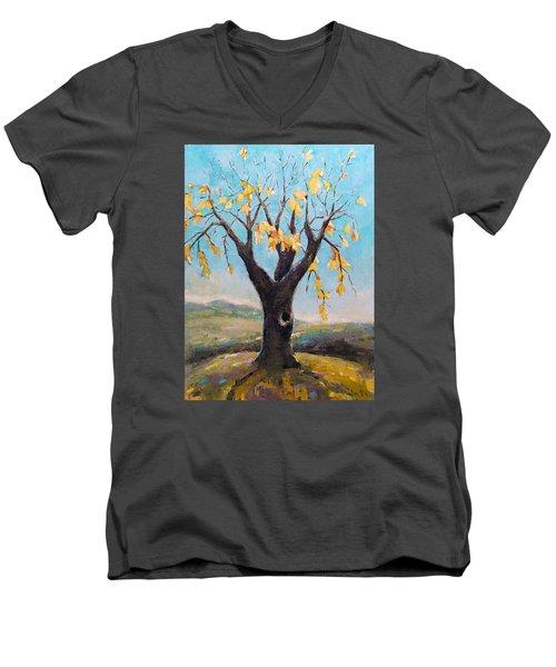 Fall Tree In Virginia Men's V-Neck T-Shirt by Becky Kim