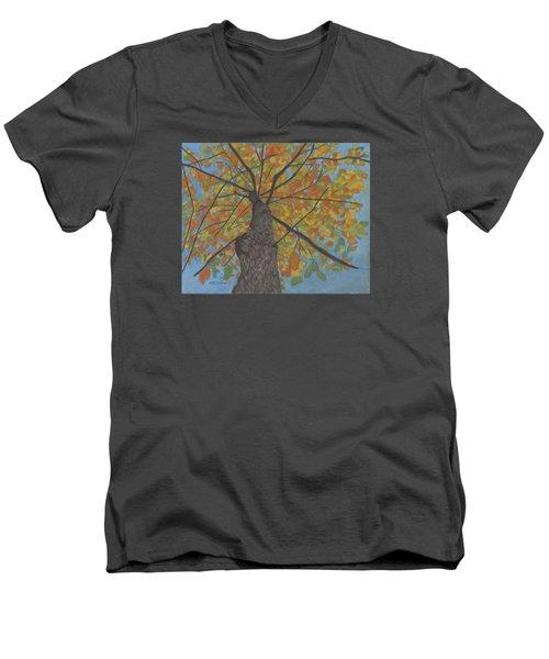 Fall Up Men's V-Neck T-Shirt by Arlene Crafton