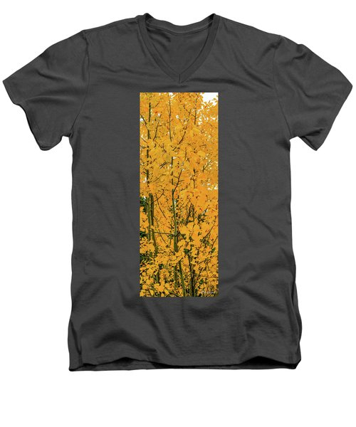 Fall Yellow Men's V-Neck T-Shirt