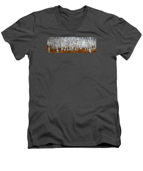 Fallen Men's V-Neck T-Shirt by Chad Berglund