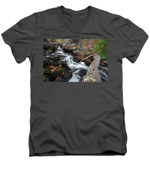 Fallen In Danforth Falls Men's V-Neck T-Shirt