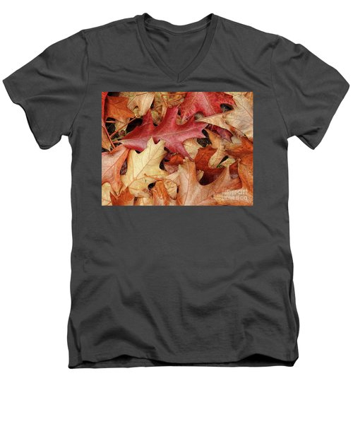 Men's V-Neck T-Shirt featuring the photograph Fallen by Peggy Hughes