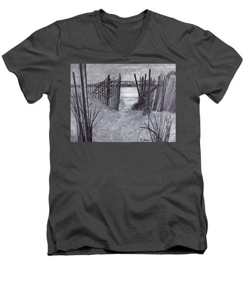 Falling Fence Men's V-Neck T-Shirt