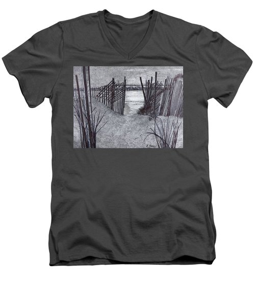 Falling Fence Men's V-Neck T-Shirt