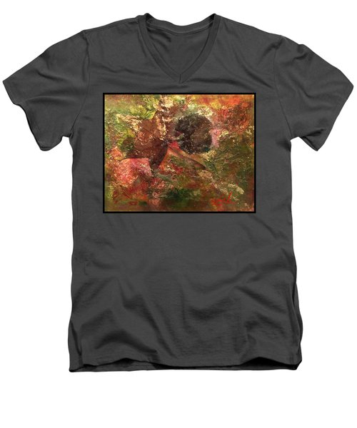 Falling In Love  Men's V-Neck T-Shirt by Delona Seserman