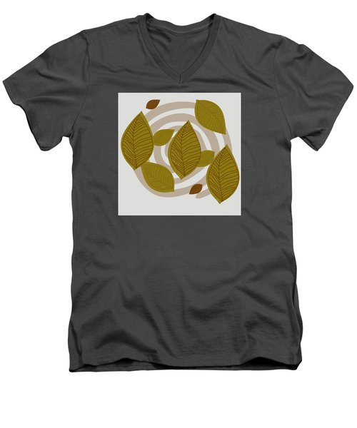 Falling Leaves Men's V-Neck T-Shirt by Kandy Hurley
