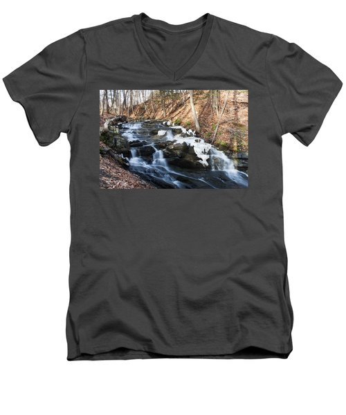 Falling Waters In February #1 Men's V-Neck T-Shirt
