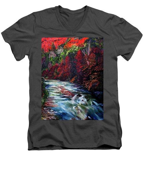 Falling Waters Men's V-Neck T-Shirt