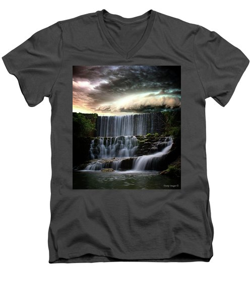 Falls At Mirror Lake Men's V-Neck T-Shirt