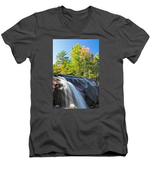 Falls Diana's Baths Nh Men's V-Neck T-Shirt by Michael Hubley
