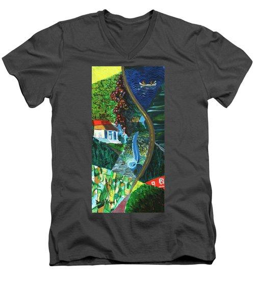 Falls, Fingers And Gorges Men's V-Neck T-Shirt