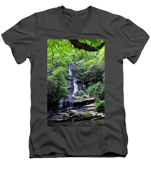 Falls Near Bryson City Men's V-Neck T-Shirt