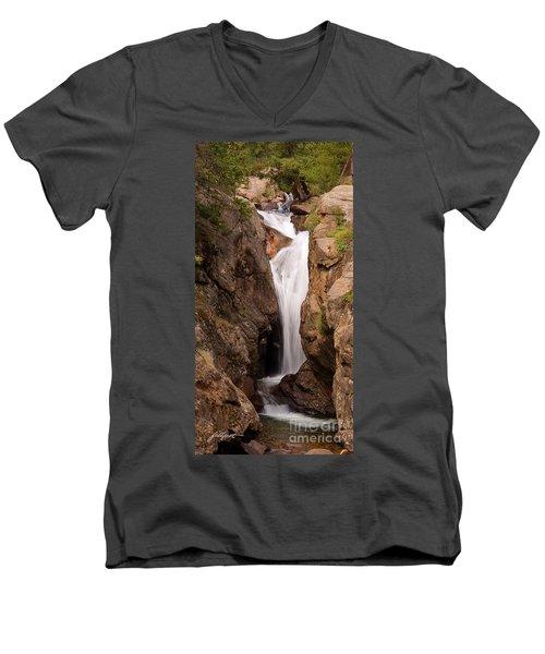 Falls On Falling River Men's V-Neck T-Shirt