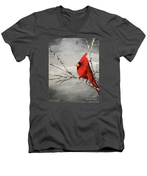 Family Man Men's V-Neck T-Shirt by Chad Berglund