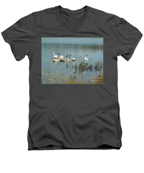 Family Of Swans Men's V-Neck T-Shirt