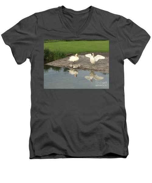 Men's V-Neck T-Shirt featuring the photograph Family Outing by David Grant