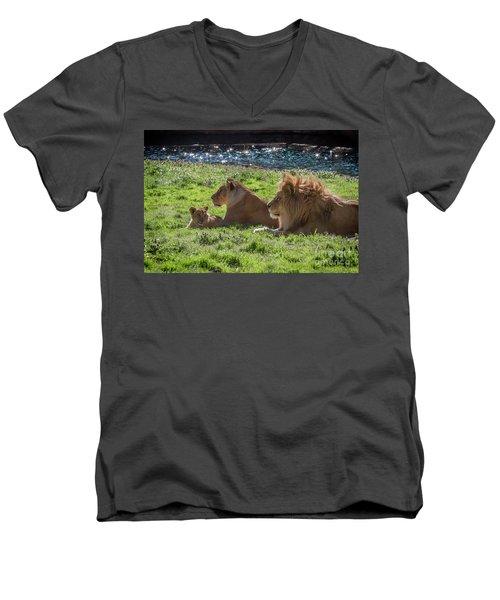 Family Pride Men's V-Neck T-Shirt