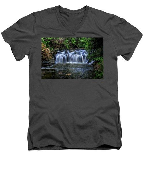 Men's V-Neck T-Shirt featuring the digital art Family Time by Sharon Batdorf