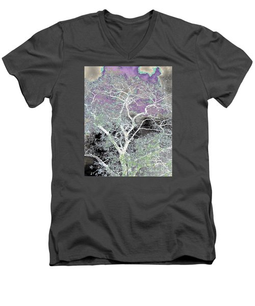 Men's V-Neck T-Shirt featuring the photograph Family Tree by Jesse Ciazza