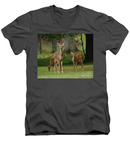 Family Walk Men's V-Neck T-Shirt