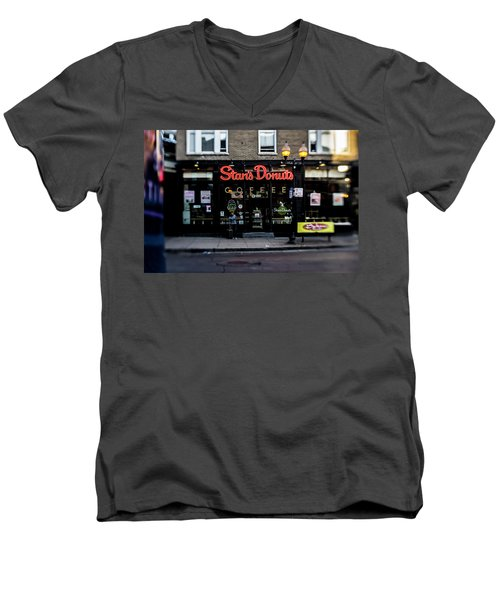 Famous Chicago Donut Shop Men's V-Neck T-Shirt