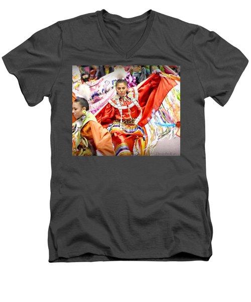 Fancy Shawl Dancers Men's V-Neck T-Shirt