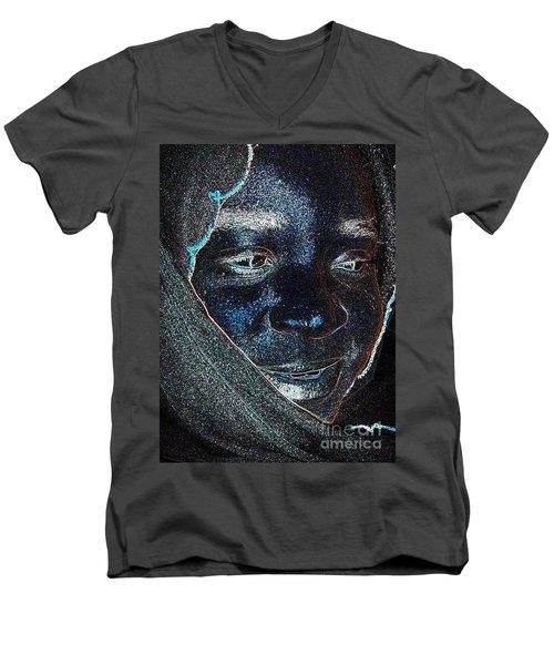 Fania Black Men's V-Neck T-Shirt