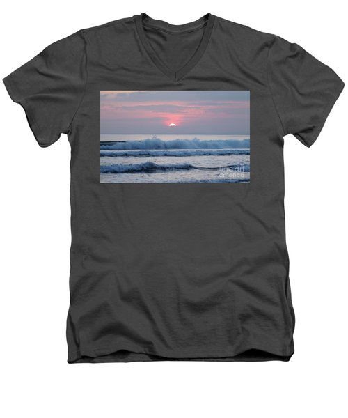 Fanore Sunset 1 Men's V-Neck T-Shirt